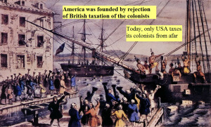 USA taxes its colonists